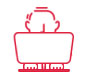 ECU Remapping icon of a man at a laptop